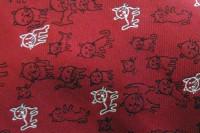 赤い猫柄ネクタイ