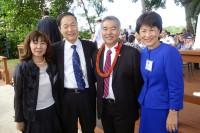 ハワイ州新知事のイゲご夫妻と