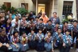 青少年平和サミットに参加した日米のメンバー