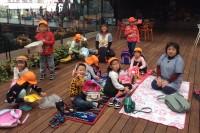 塚山保育園の園児たち
